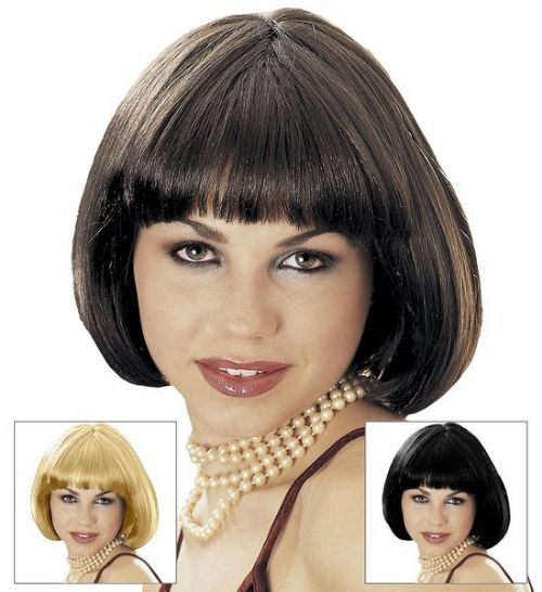 60s Valentina Wig (Brown/Blonde/Black) Mods Rockers Swinging 60s Fancy Dress